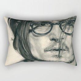 Secret Window Traditional Portrait Print Rectangular Pillow