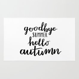 Goodbye summer hello autumn Rug