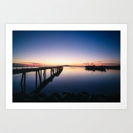 Sunset at Montevideo bay Art Print