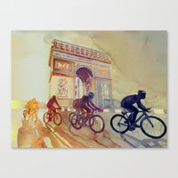 tour de france Canvas Prints featuring Tour de France by takmaj