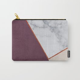 PLUM MARBLE NUDE COPPER GEOMETRIC Carry-All Pouch