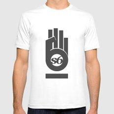 s6_hand_tee_1 MEDIUM White Mens Fitted Tee