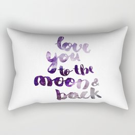 """PERIWINKLE """"LOVE YOU TO THE MOON AND BACK"""" QUOTE Rectangular Pillow"""