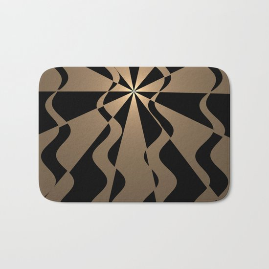 Trendy abstract in gold and black Bath Mat