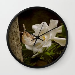 The Scent of the Gardenia Wall Clock