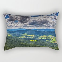Bavarian Forest Landscape Rectangular Pillow