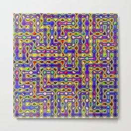 Crazy Maze Metal Print
