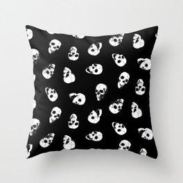 Gossiping Skulls Throw Pillow