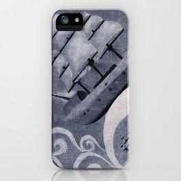 Whirlpool of ships iPhone Case