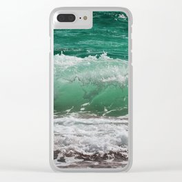 Sea Water Waves Clear iPhone Case
