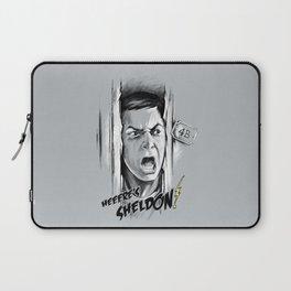 Heeere's Sheldon! Laptop Sleeve