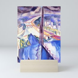 "Robert Delaunay ""The Spire of Notre Dame""(1909) Mini Art Print"