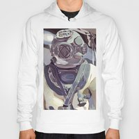 diver Hoodies featuring Diver by Five Ate Five Studios