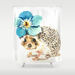 When life gets a little prickly, put a flower on it Shower Curtain