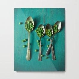 Peas Please Metal Print