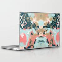 college Laptop & iPad Skins featuring Eisley - Modern fresh abstract painting in bright colors perfect for trendy girls decor college by CharlotteWinter