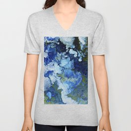 Abstract Nature Acrylic Pour Unisex V-Neck