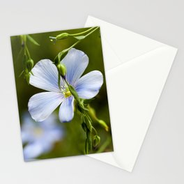 Flower of flax Stationery Cards