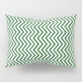 Canadian Wildlife Chevron Emerald Pillow Sham