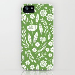 Blooming Field - green iPhone Case