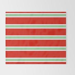 Christmas Stripes #1 Throw Blanket