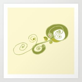 Swirly Flower Too Art Print