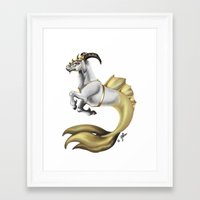 capricorn Framed Art Prints featuring Capricorn by STiCK MONSTER iNK