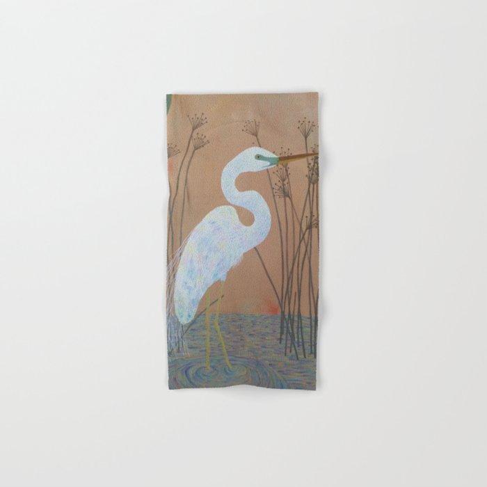Unicorn Egret Hand & Bath Towel