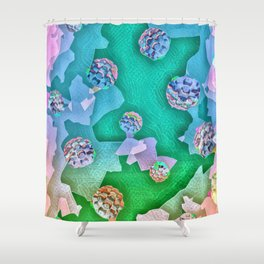 Frozen Ivy Berries. Shower Curtain