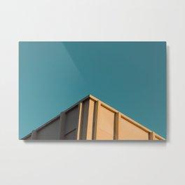 Apogee minimalist print, building look up print, blue sky print Metal Print