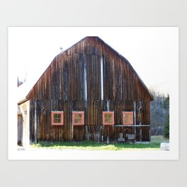 Rustic Old Country Barn Art Print