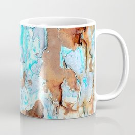 Blue Pipe Fence Coffee Mug