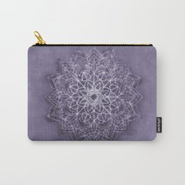 Vintage Lavender Watercolor Mandala Carry-All Pouch