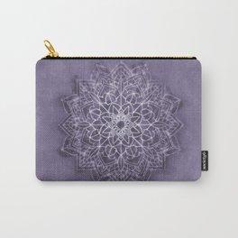 Vintage Lavender Watercolor Mandala Carry-All Pouch