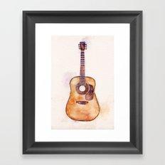 Martin Guitar Framed Art Print