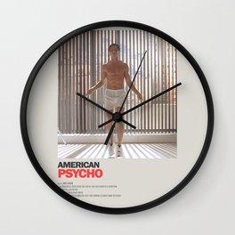 American Psycho Minimal Movie Poster No 02 Wall Clock