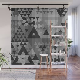 triangle-grayscale-KNIT Wall Mural
