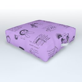 Gilmore Girls Quotes in Purple Outdoor Floor Cushion