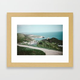 Lulworth Cove Framed Art Print