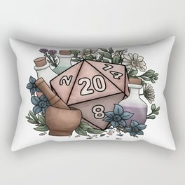 Alchemist D20 Tabletop RPG Gaming Dice Rectangular Pillow
