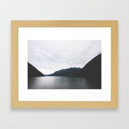 Lake Cushman Framed Art Print