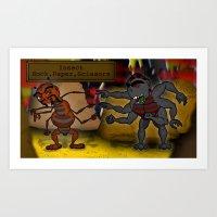 Insect Rock Paper Scissors Art Print