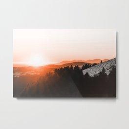 Warm Mountains Metal Print