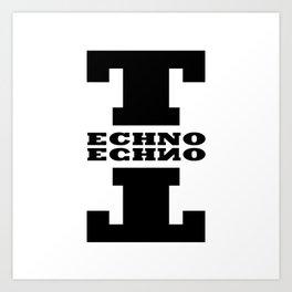 Techno Anagram Art Print