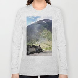 Waiting Under the Towering 13,066-foot Kendall Mountain Long Sleeve T-shirt