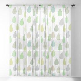 waterdrops (5) Sheer Curtain