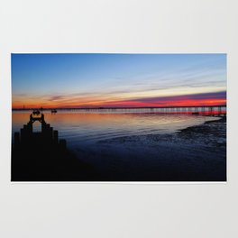 Sunset on the Shore of Southend Rug