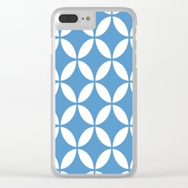 Palm Springs Screen: Turquoise Clear iPhone Case