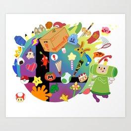 Super Smash Katamari Art Print