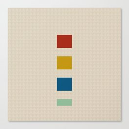 four elements || tweed & primary colors Canvas Print
